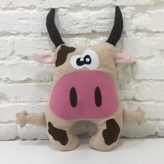 бычок подушка-игрушка сплюшка-веселая корова подушка-декор в детскую