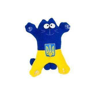 Авто игрушка кот  Саймон  Национальный на присосках 27см