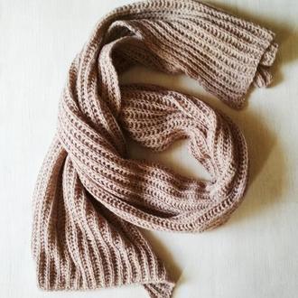 Широкий шарф из твида