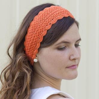 Оранжевая повязка на голову