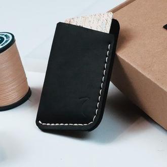 Картхолдер (визитница) кошелек из натуральной кожи ручная работа