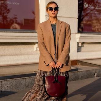 Вместительная стильная женская сумка из кожи, сумка через плечо