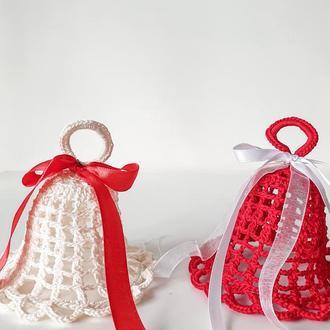"""Набір із 2 новорічних прикрас """"Дзвіночки"""" / Прикраси на ялинку / Різдвяний декор"""