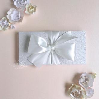 "Gift Box ""Loreleya"" Цвет 1 (белый) - открытка в коробочке"