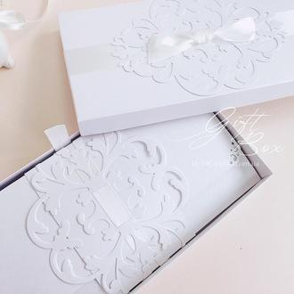 """GiftBox """"Pino"""" Цвет 7 (молочный) - открытка в коробочке"""