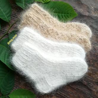 Носки из собачьей шерсти детские теплые Эко