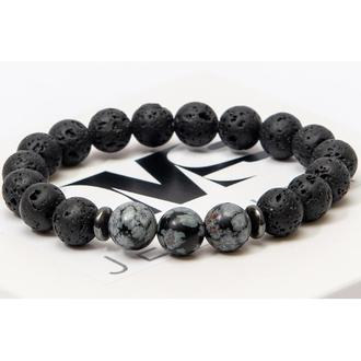 Браслет DMS Jewelry из обсидиана, лавового камня, гематита VOLCANO ENERGY BRACELET