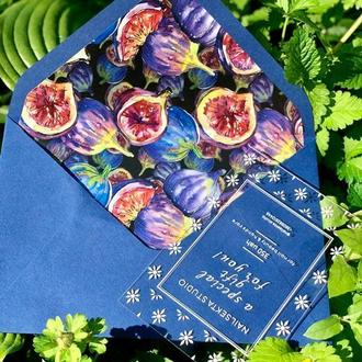 Подарочный конверт С5 с цветным вкладышем