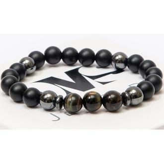 Браслет DMS Jewelry из натуральных камней шунгита, гематита, тигрового глаза BRAVE TIGER