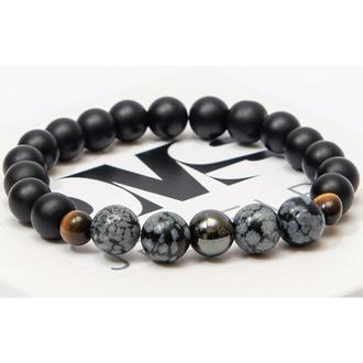 Браслет DMS Jewelry из натуральных камней шунгита, обсидиана, тигрового глаза POWER BRACELET