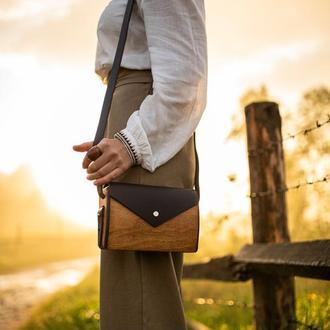 """Женская деревянная сумочка""""Корица"""""""