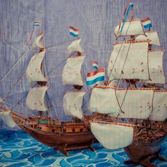 Модель парусного корабля пинасс *Хемскерк*