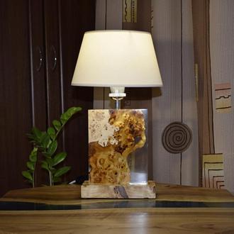 Деревянная лампа с эпоксидной смолой, Лампа из дерева и эпоксидной смолы