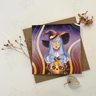 Ведьмочка с тыквой
