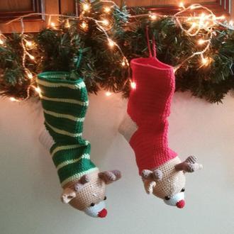 Рождественский носок Олень