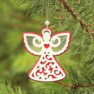 """Елочная игрушка """"Ангелок"""", новогодняя игрушка ручной работы, подвеска на елку, новогодний декор"""