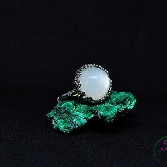 Серебряное кольцо с беломоритом
