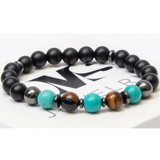 Браслет DMS Jewelry из натуральных камней шунгита, тигрового глаза, бирюзы DYNAMIC BRACELET