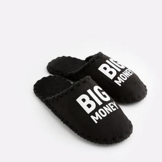 Мужские домашние тапочки Big Money, черного цвета, закрытой формы