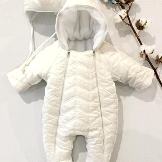 Комбинезон для новорожденных зимний MAAMdesign Белый