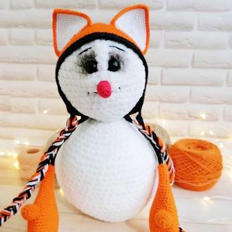 Мастер-класс по вязанию крючком снеговика, схема амигуруми