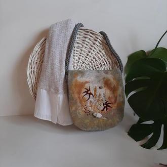 Сумка валяная, сумочка из шерсти. Сумка