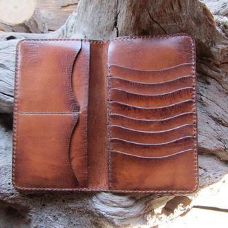 Кожаные портмоне Кошельки- портмоне,Мужские портмоне кожаные,Именные портмоне