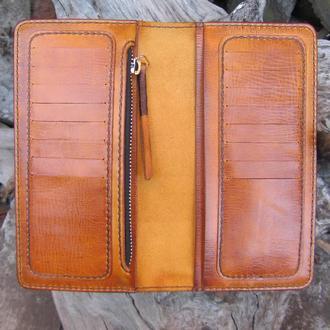 кожаный портмоне для мужчин