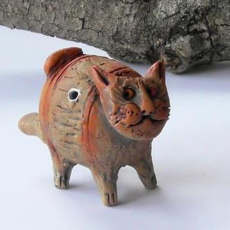 Свистулька Котик керамическая
