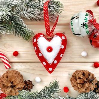 """Новогоднее украшение на ёлку """"Сердечко"""""""