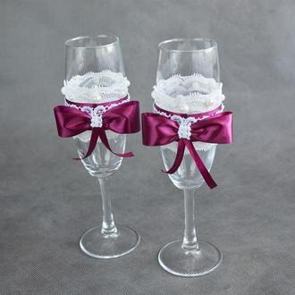 Свадебные бокалы для шампанского арт. 9011
