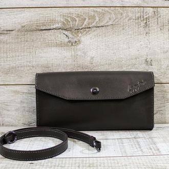 Женский кожаный клатч L01090