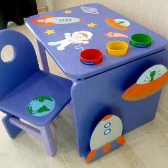 """Детский столик и стульчик """"Космос"""""""