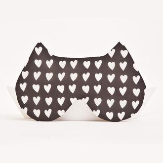 Маска для сна кошка, Подарок девушке на день Святого Валентина