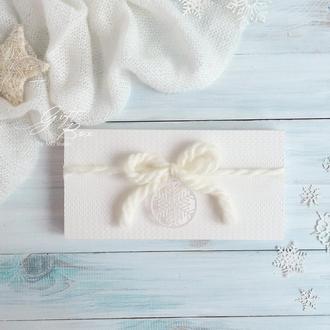 """Gift Box """"Cozy"""" Цвет 2 (молочный) - открытка в коробочке"""