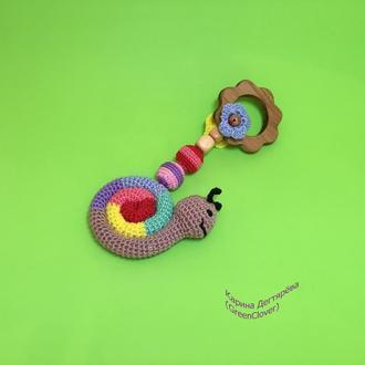 Игрушка-грызунок ′улитка′