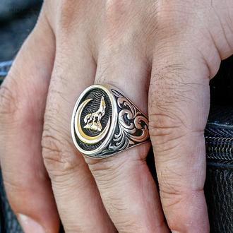 Срібне кільце вайнахское ручної роботи майстри з Туреччини
