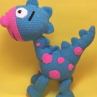 Динозаврик вязаный