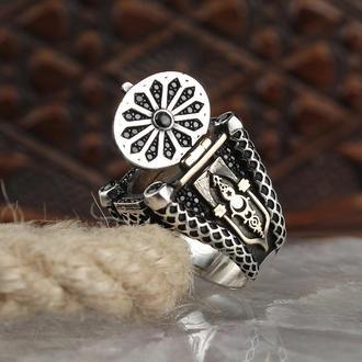 Перстень великолепный век 925 ПРОБА Циркон Качественный Красивый долговечный с тайником и крышкой