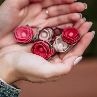 Mini цветочки для первых хвостиков (резинки для волос)