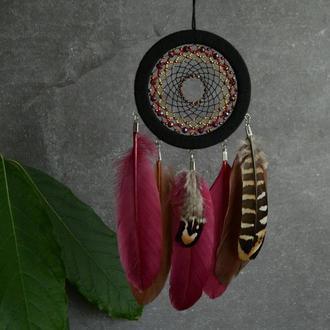 Ловец снов осень, декор и оберег, оригинальный подарок близким и друзьям
