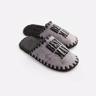 Мужские домашние тапочки Best Man серого цвета, закрытой формы