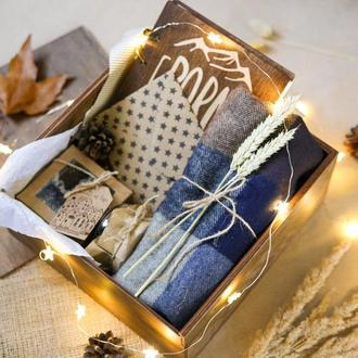 """Мужской подарочный набор """"WOODEN BOX""""/ подарок на новый год"""