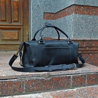 Черная дорожная сумка, Большая кожаная спортивная сумка