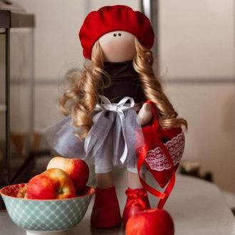 Кукла тильда Красная шапочка