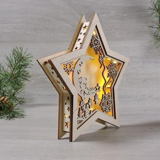 """Ночник детский led светильник звезда """"рождественский сон"""" (2138)"""
