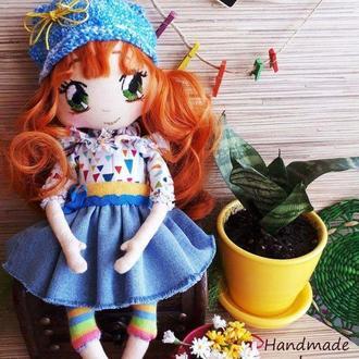 Текстильная кукла.Рыжуля