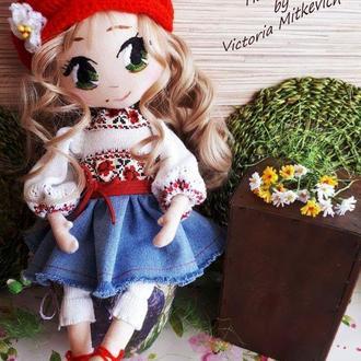 Текстильная кукла в украинском стиле.Украиночка.