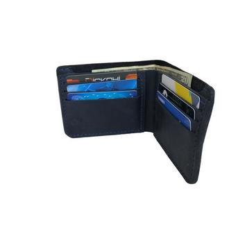 Кожаный синий бумажник х10 (10 цветов)