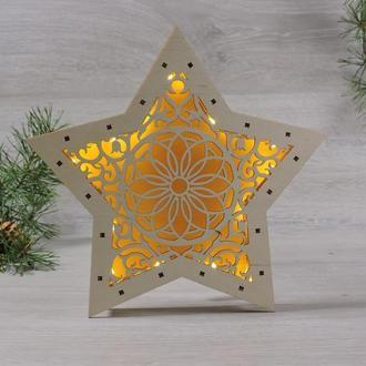 """3d-світильник зірка з led підсвічуванням """"квітковий мотив"""""""